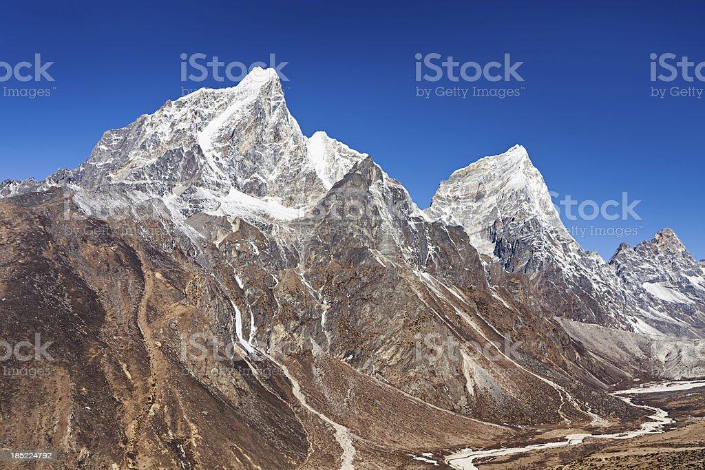 Himalayas panorama - Taboche and Cholatse Peak royalty-free stock photo