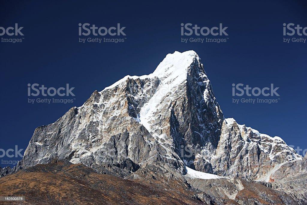 Himalayas panorama - Taboche Peak royalty-free stock photo