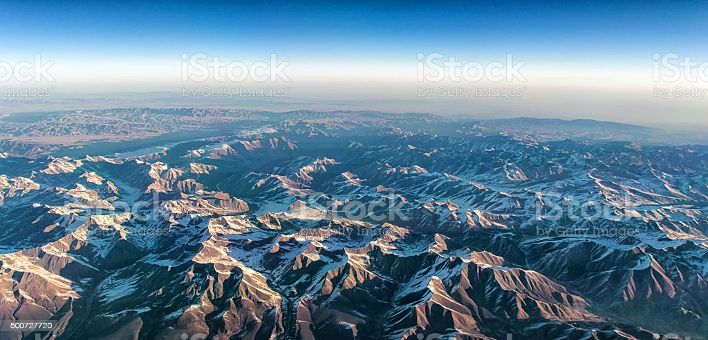 Himalayian Mountain range stock photo
