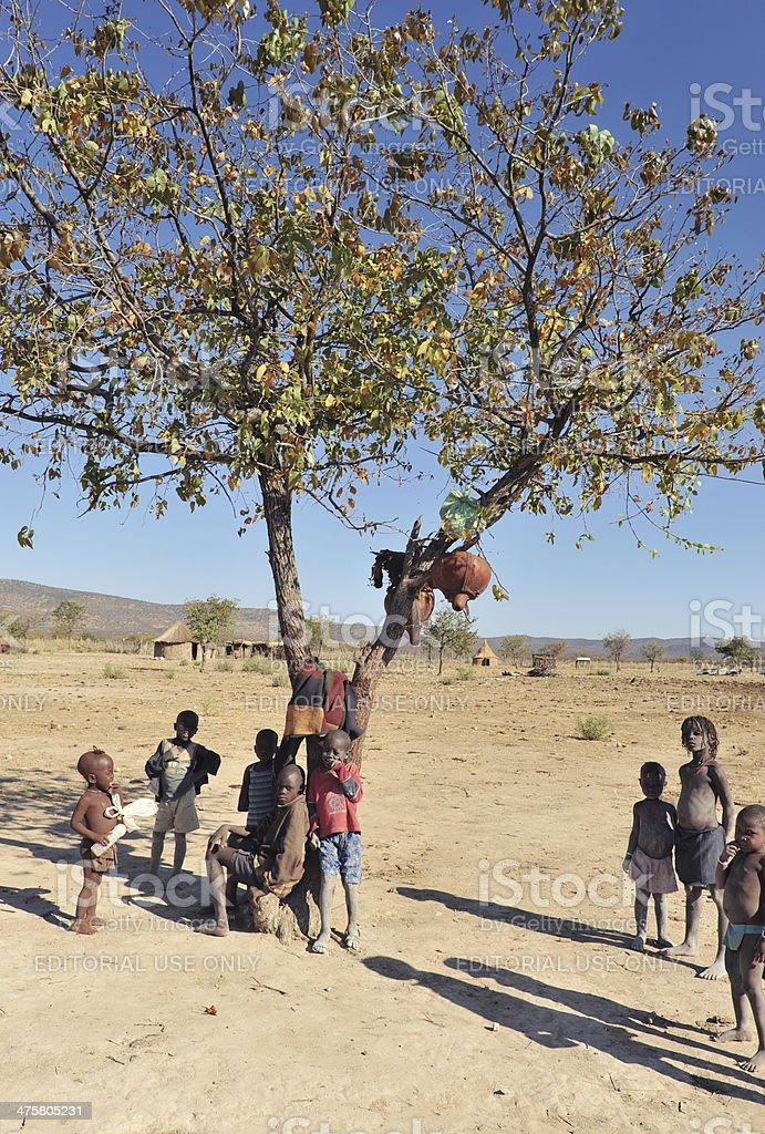 Himba children stock photo