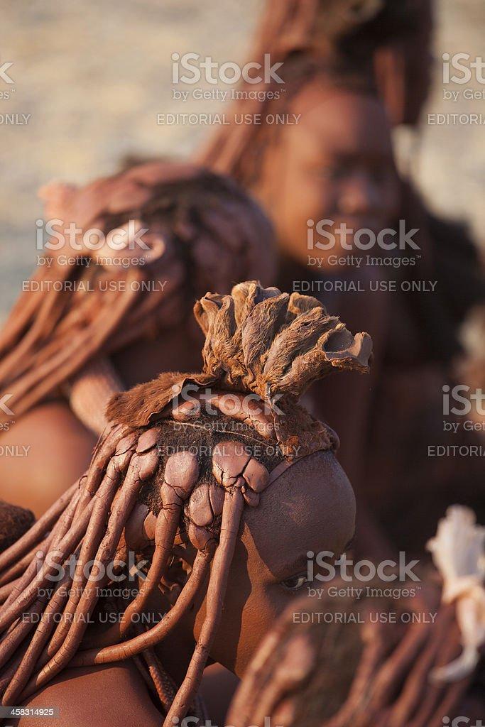 Himba woman hair royalty-free stock photo