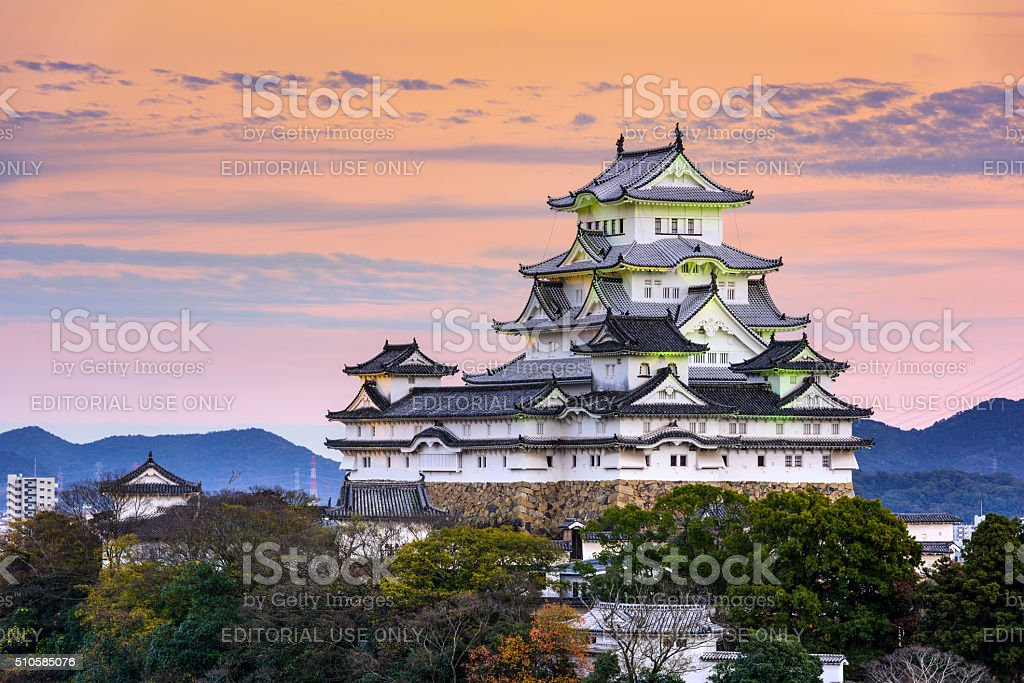 Himeji Castle in Japan stock photo