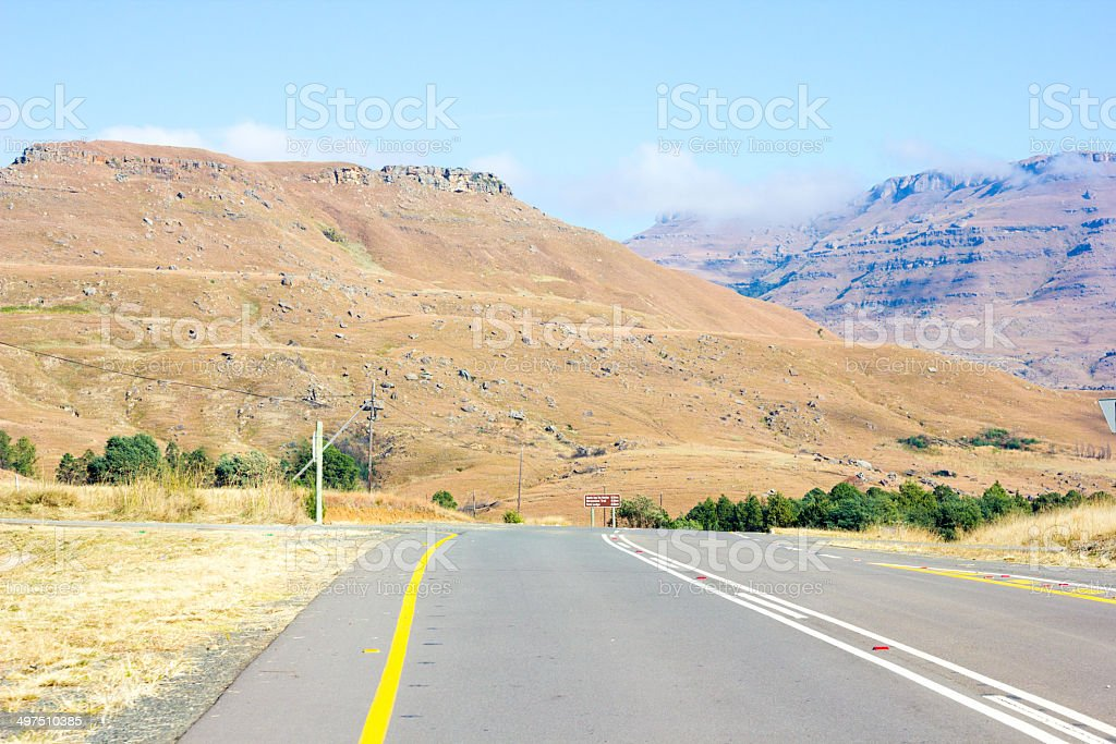 Himeville in KwaZulu-Natal, South Africa royalty-free stock photo