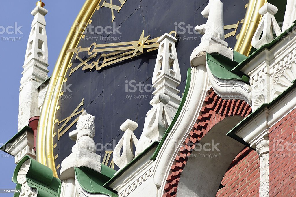 Сhiming clock royalty-free stock photo