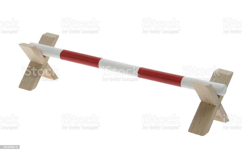 Hindernisse beim Springreiten (Spielzeug) stock photo