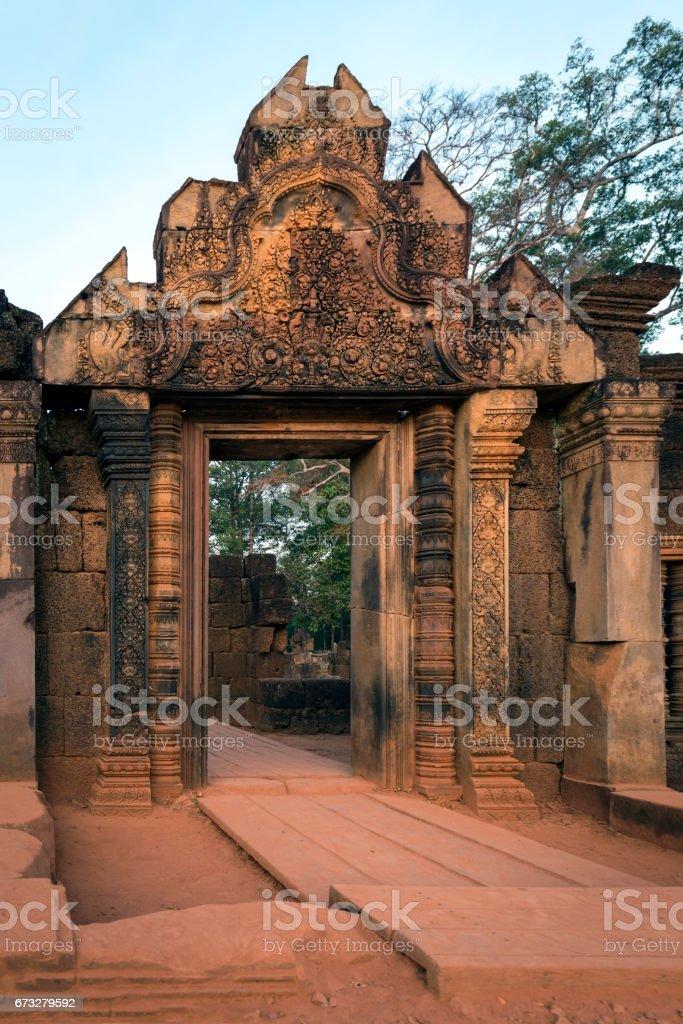 Hindu architecture at Angkor Wat stock photo