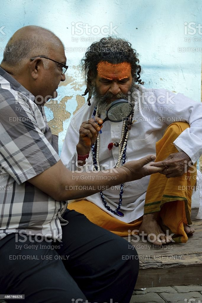 Hindu Astrologer stock photo