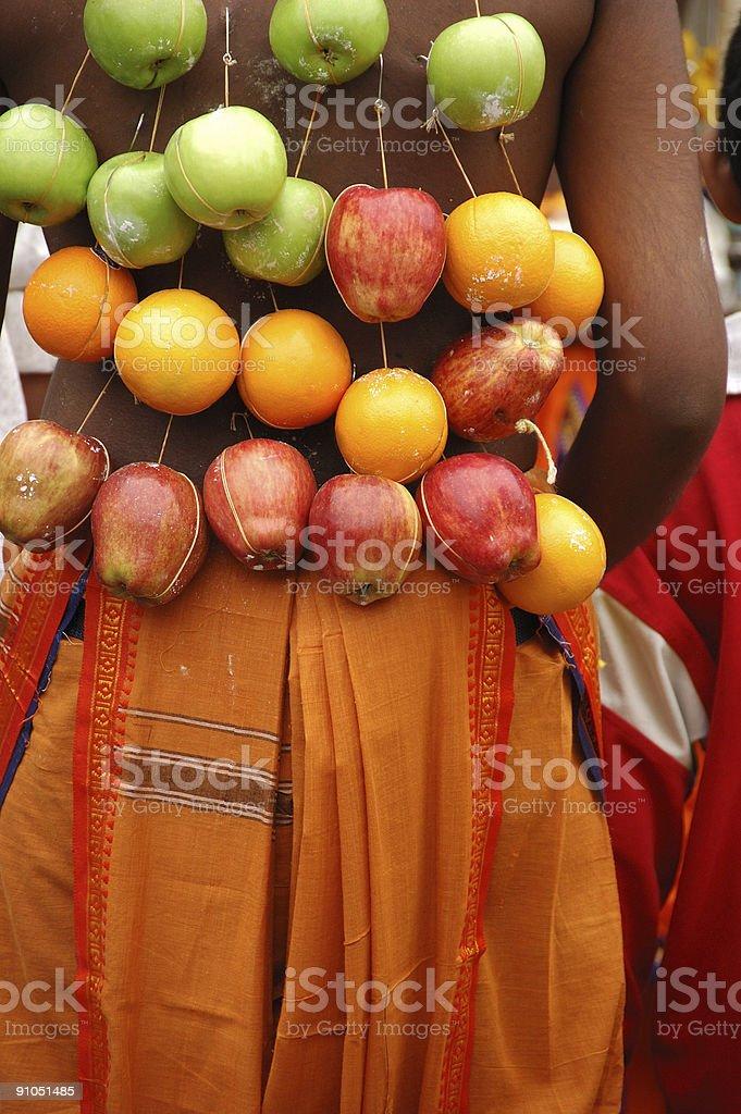Hindu body-piercing stock photo