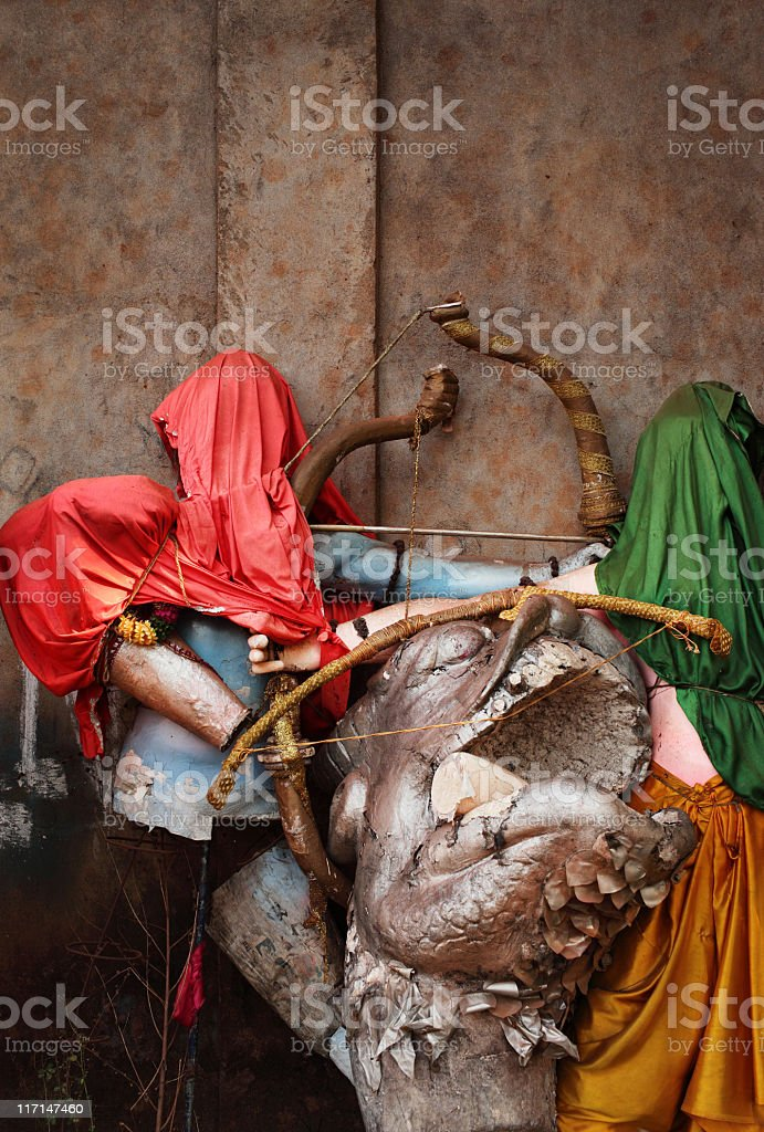 Hindu Ceremony Mannequins stock photo