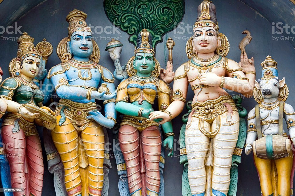 Hindu deities - Tamil Nadu - India stock photo