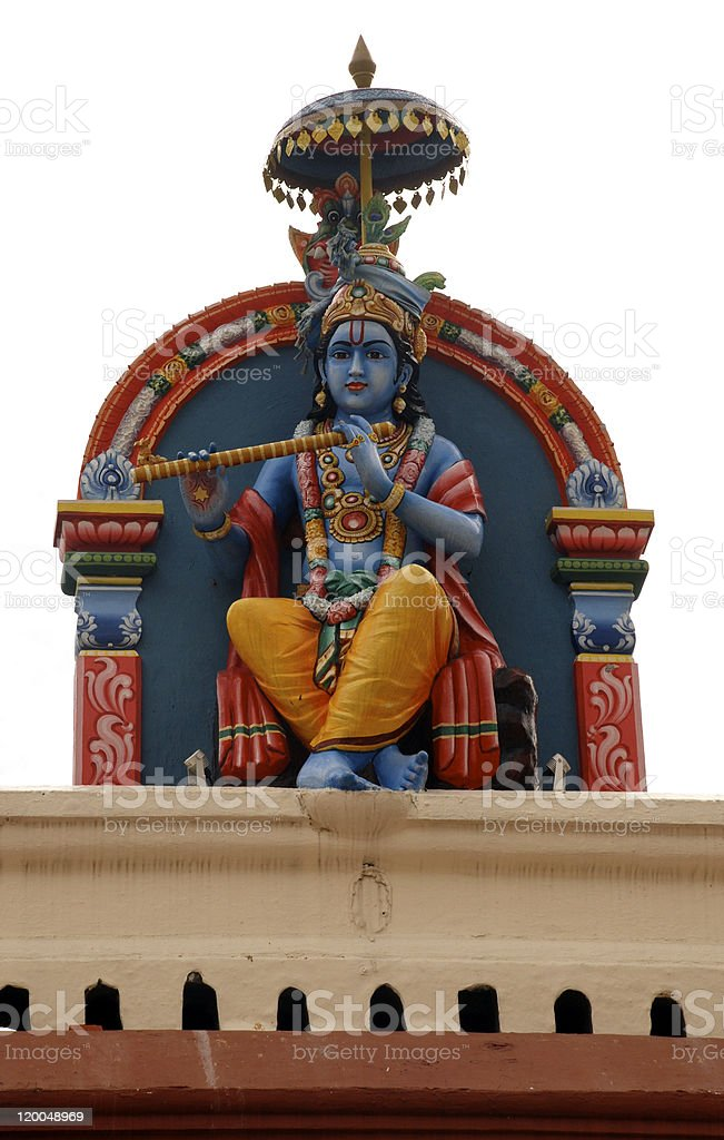 Hindu deity at Sri Mariamman Temple in Singapore stock photo