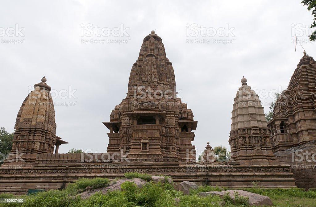 Hindu erotic temple in Khajuraho, India royalty-free stock photo