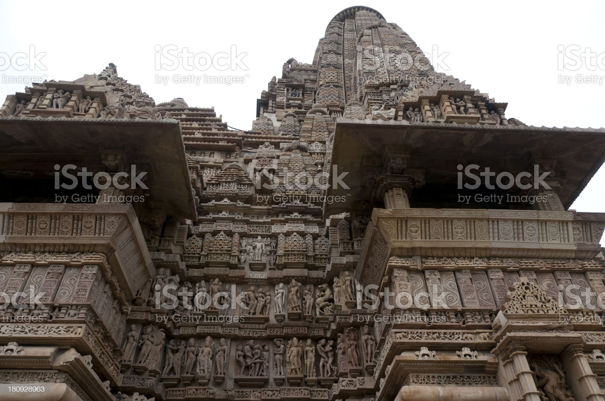 Hindu erotic temple in Khajuraho, India royalty-free stock photo
