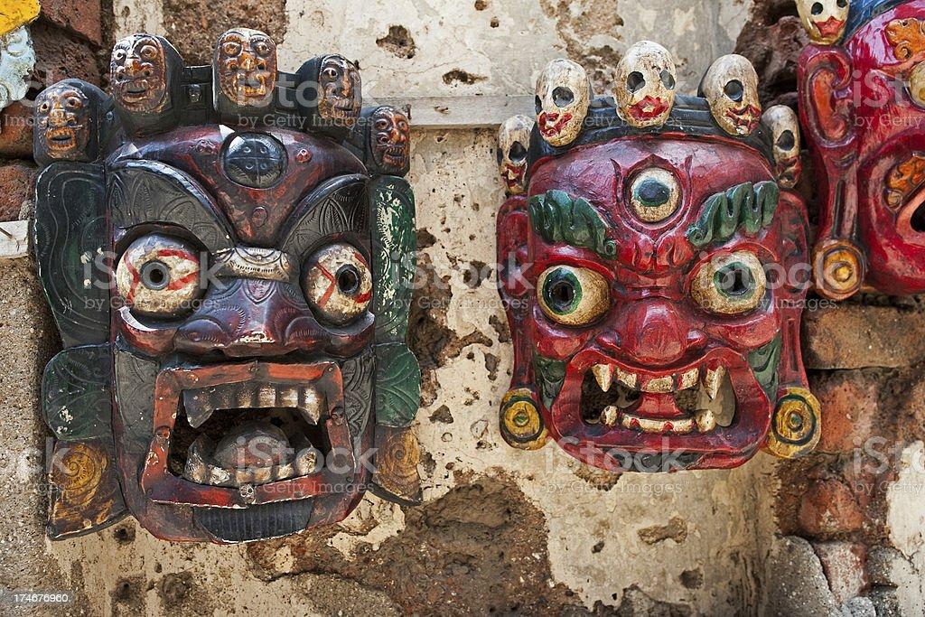 Hindu face masks stock photo