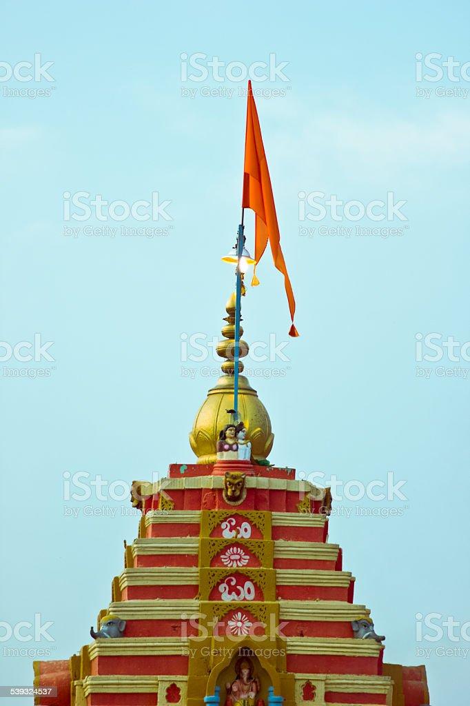 Hindu Flag stock photo