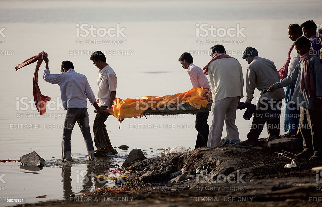 Hindu funeral ceremony stock photo