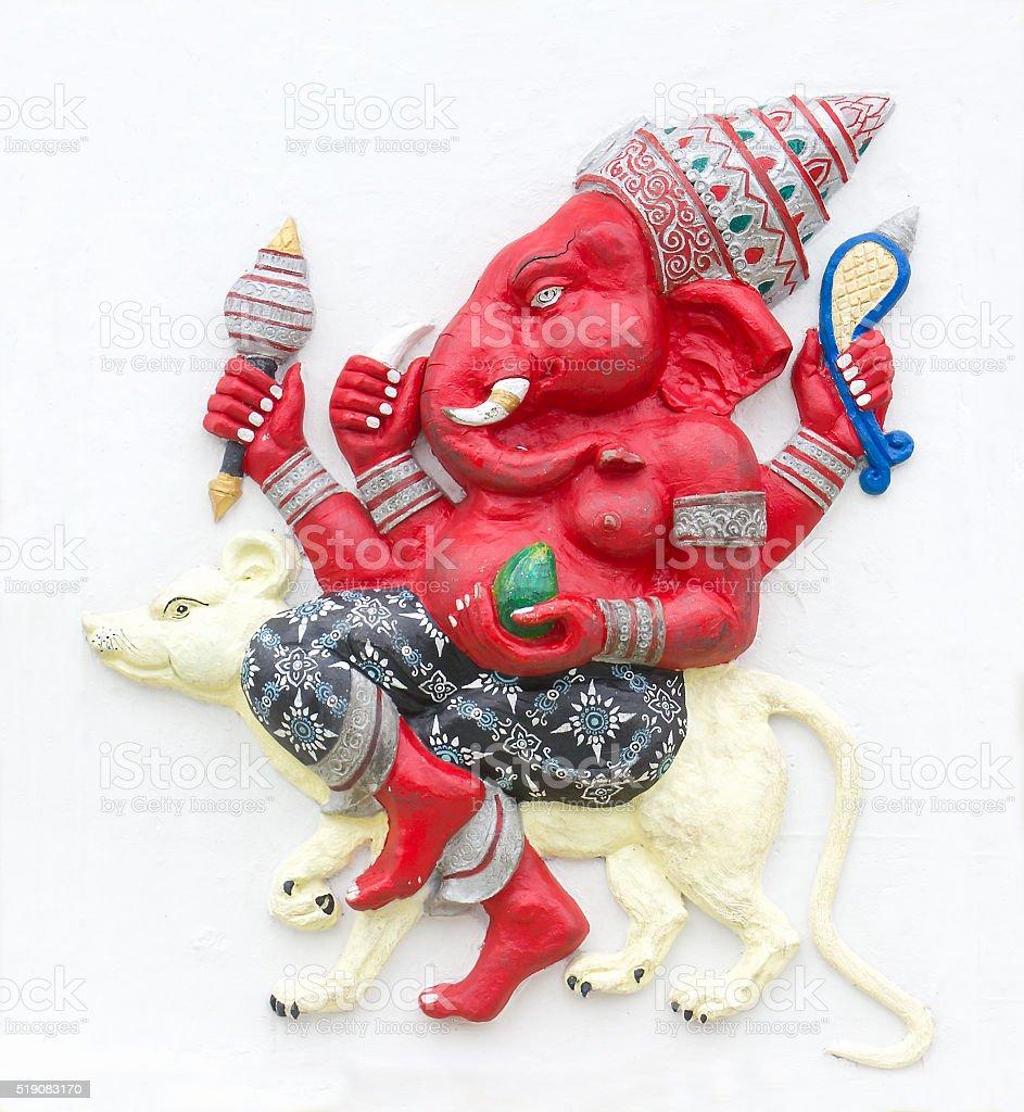 Hindu ganesha God stock photo