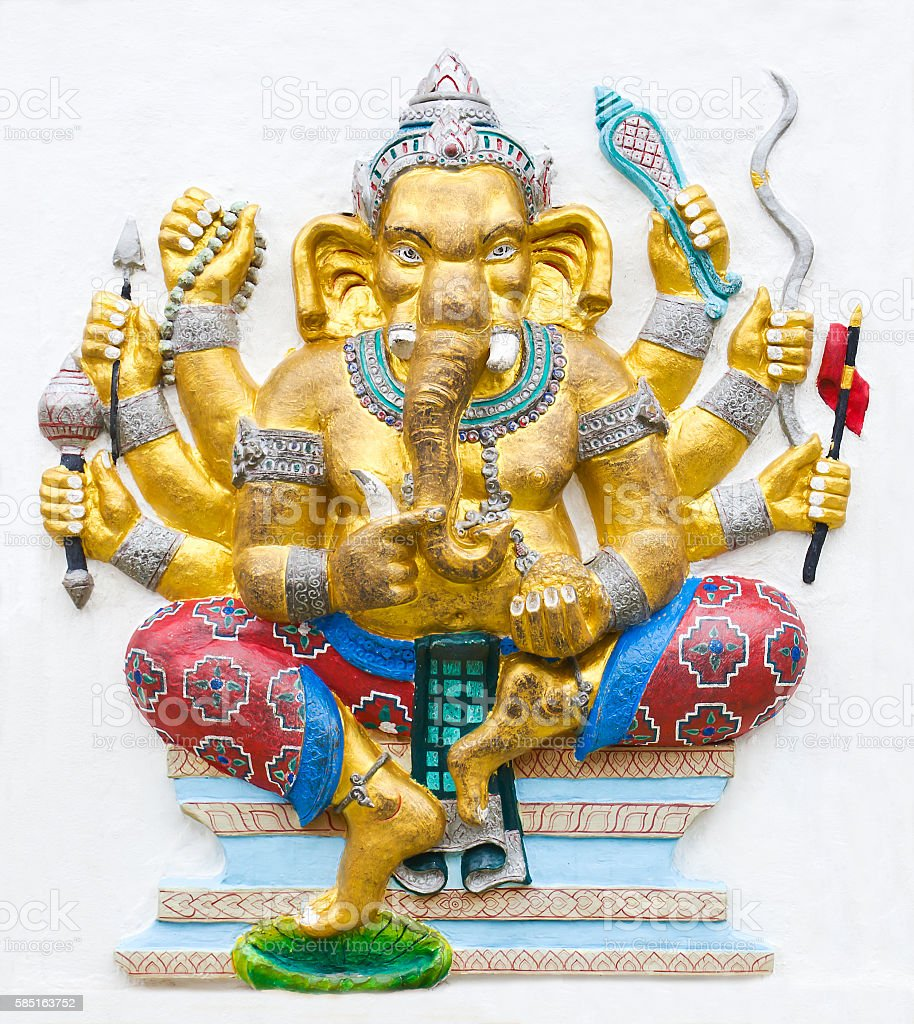 Hindu ganesha God stock photo