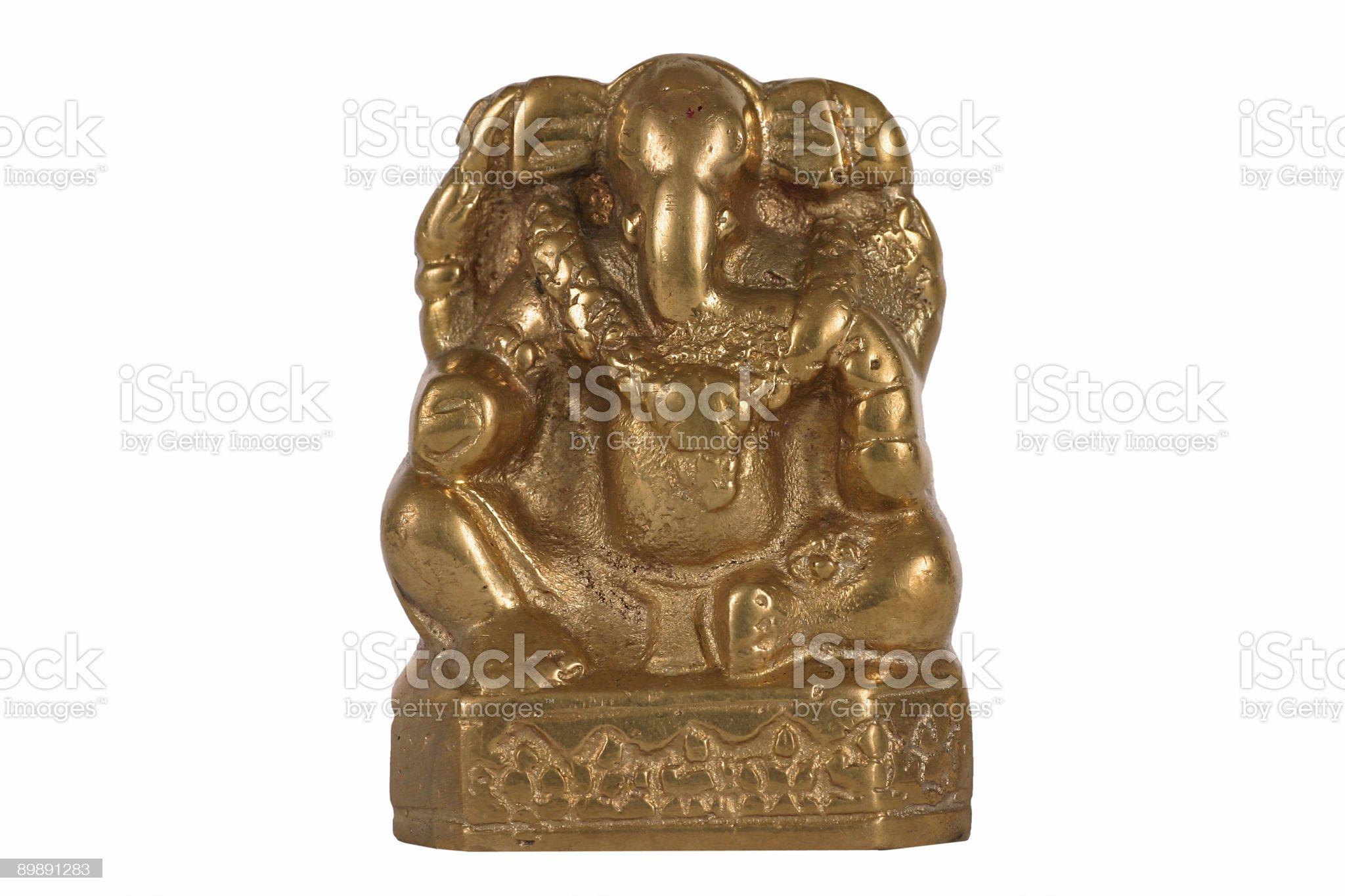 Hindu God Ganesh isolated over white royalty-free stock photo