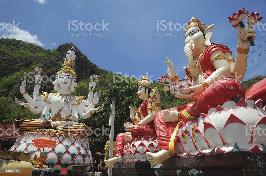 Hindu God Ganesha and Brahma stock photo