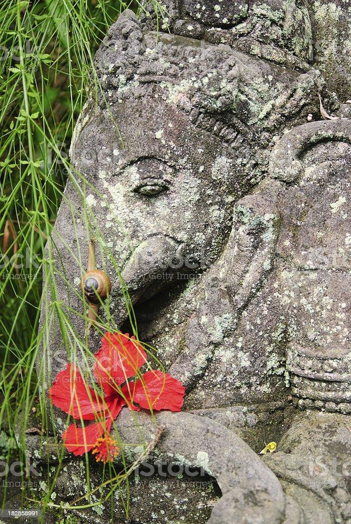 Hindu God Ganesha Statue stock photo