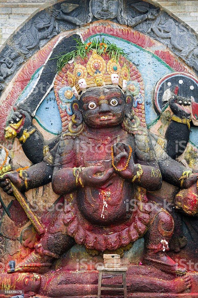 Hindu God Kali - Nepal royalty-free stock photo