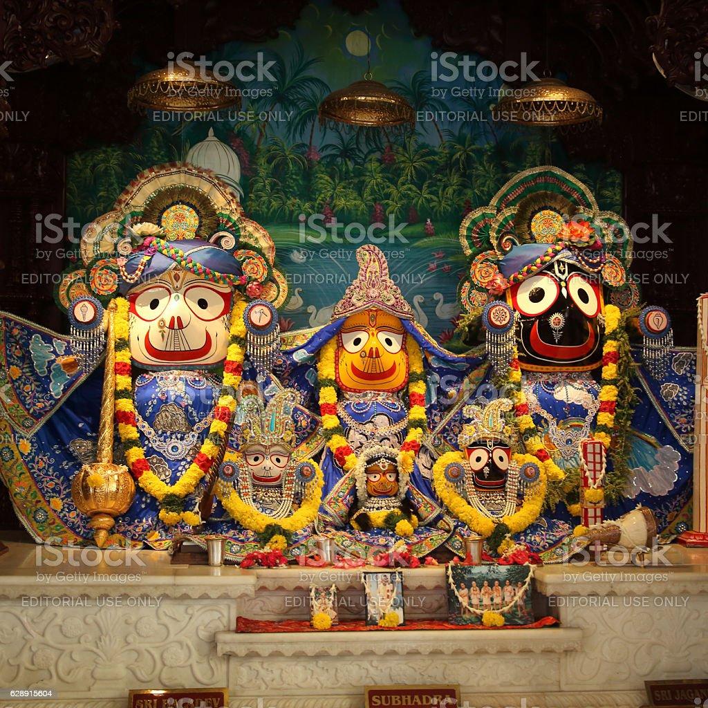 Hindu God lord Krishna with his wife Radha stock photo