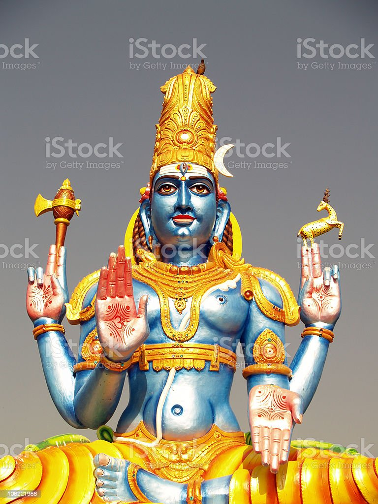 Hindu God Shiva stock photo
