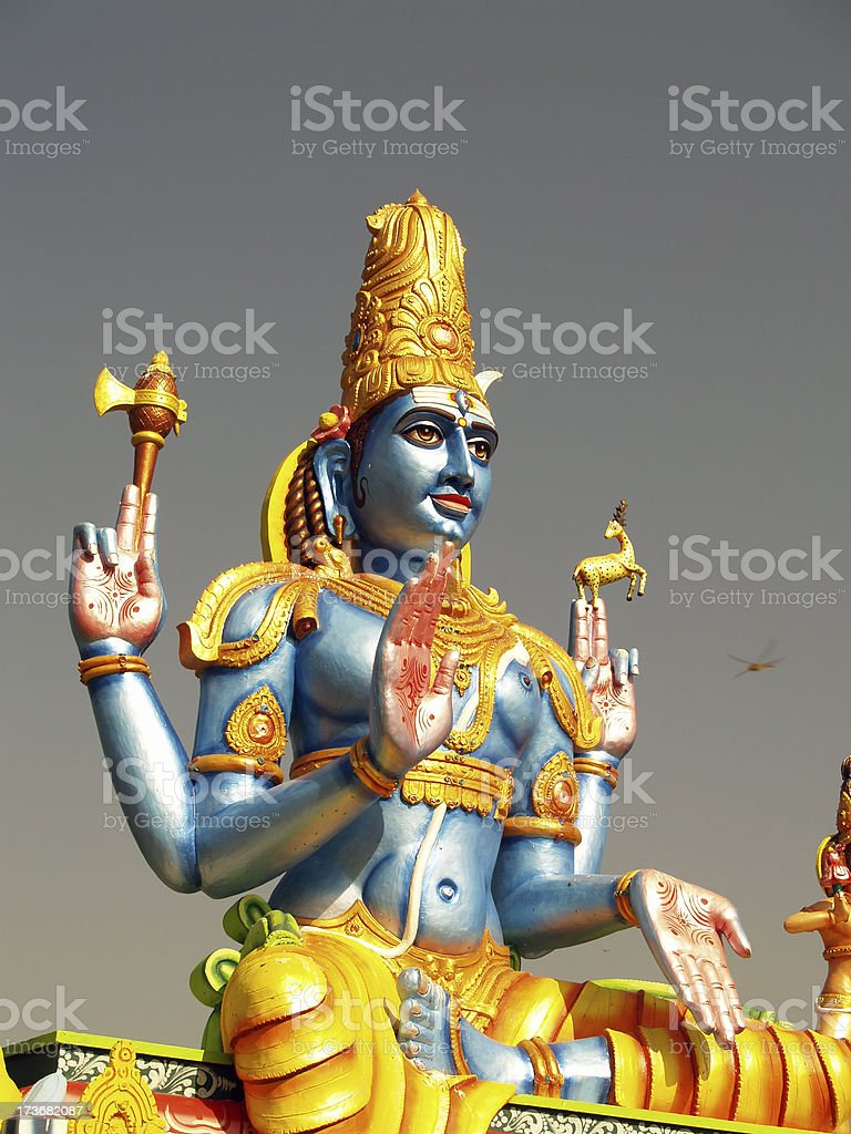 Hindu God Shiva royalty-free stock photo