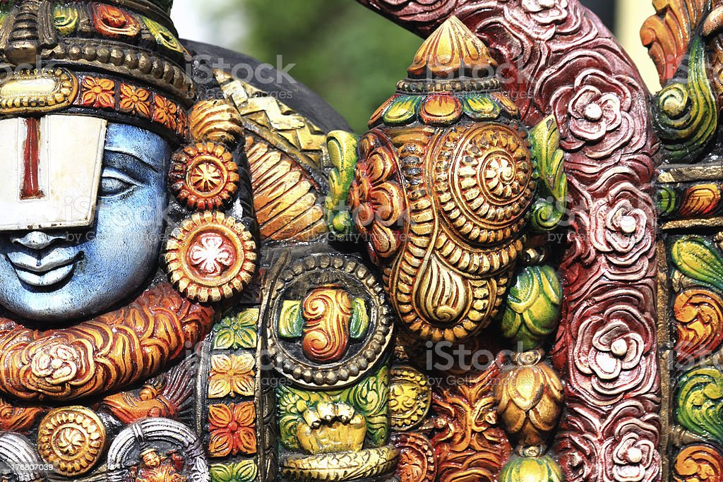 Hindu God Sri Venkateswara royalty-free stock photo