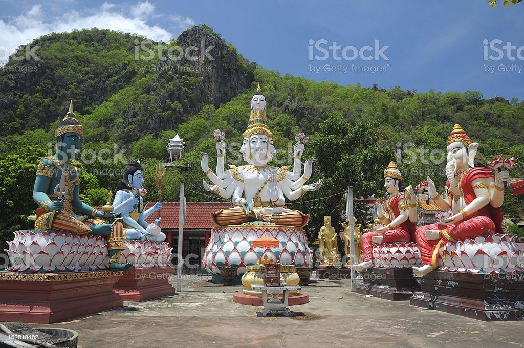 Hindu God Vishnu Shiva Ganesha and Brahma stock photo