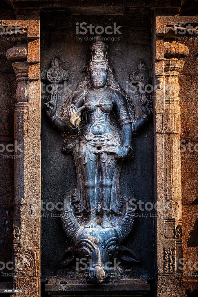 Hindu goddess Durga Mahisaurmardini image stock photo
