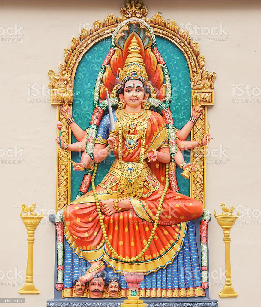 Hindu Goddess Durga royalty-free stock photo