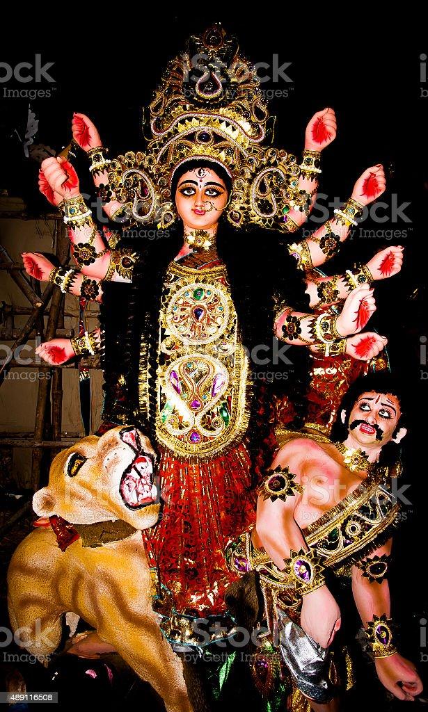 Hindu Goddess Durga stock photo