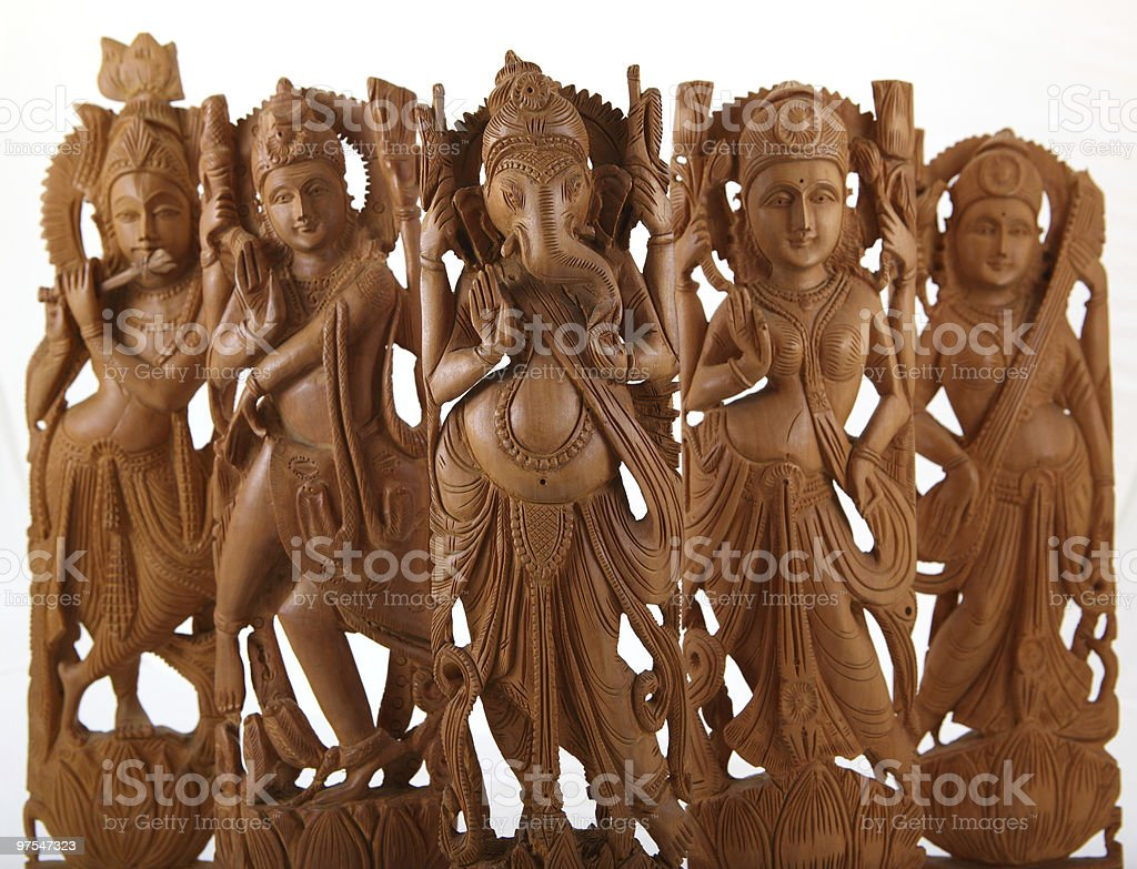 hindu gods&goddesses royalty-free stock photo