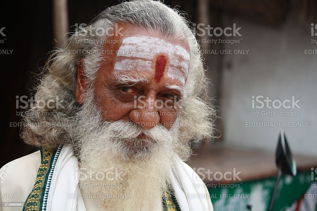 Hindu holy man stock photo