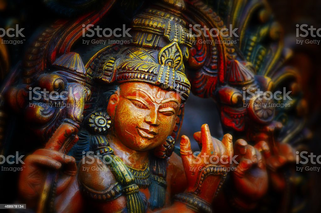 Hindu Lord Krishna stock photo