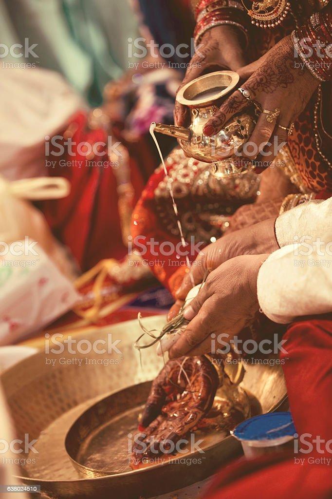 Hindu marriage stock photo