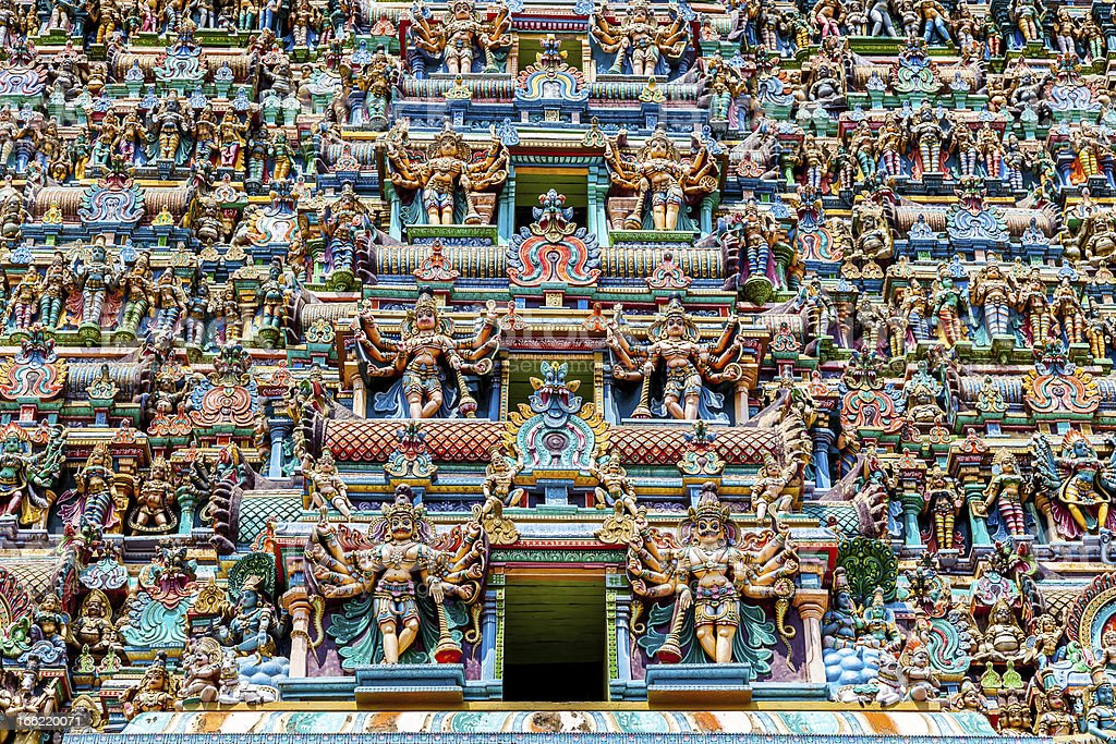 Hindu Menakshi Temple, Madurai, Tamil Nadu, India stock photo