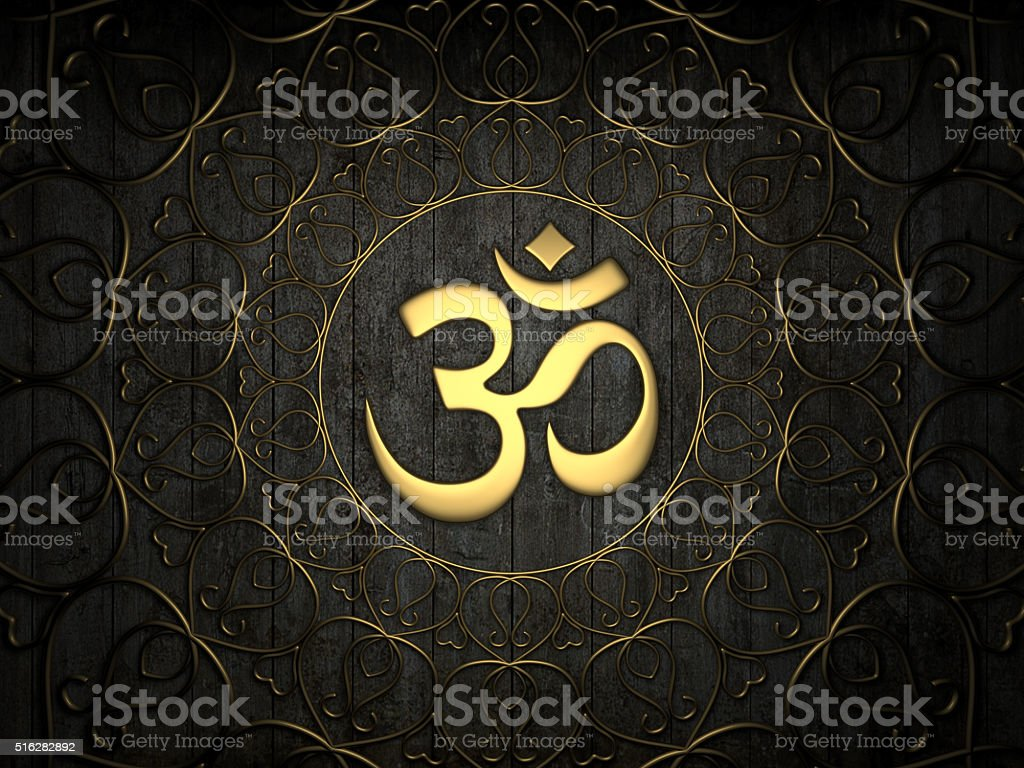 Hindu Om Icon stock photo