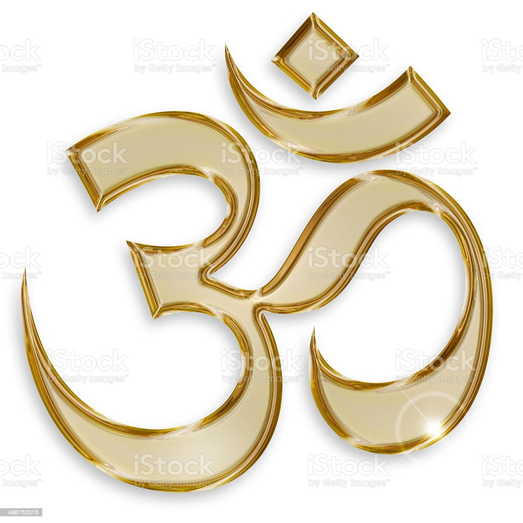 hindu om symbol stock photo