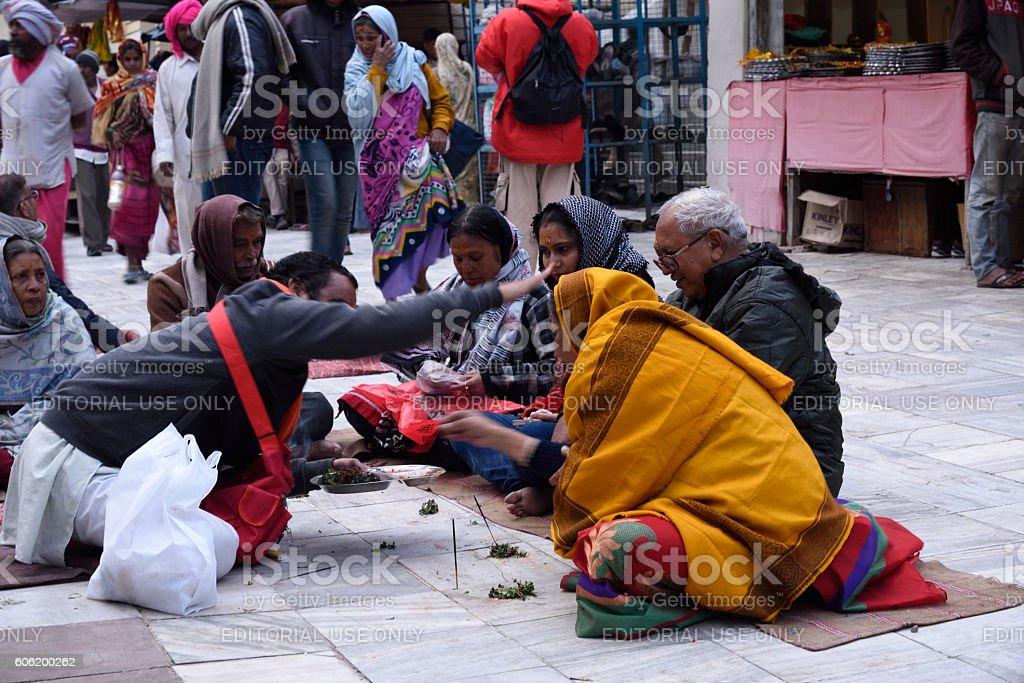 Hindu pilgrims stock photo