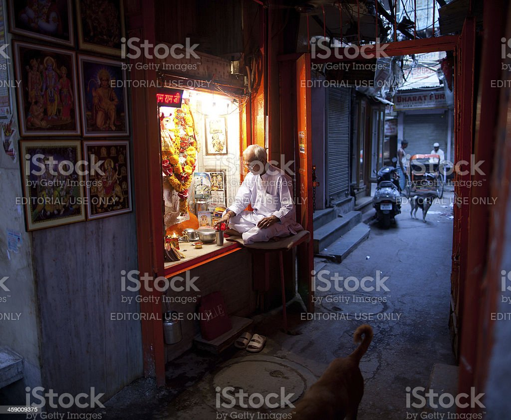 Hindu priest in New Delhi, India royalty-free stock photo