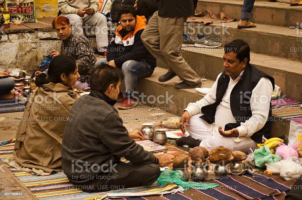 Hindu Puja stock photo