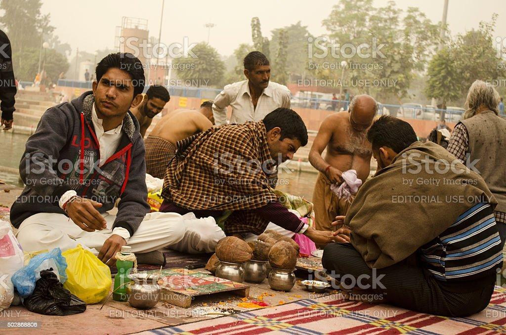 Hindu Puja stock photo