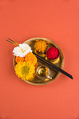 hindu puja thali, indian culture