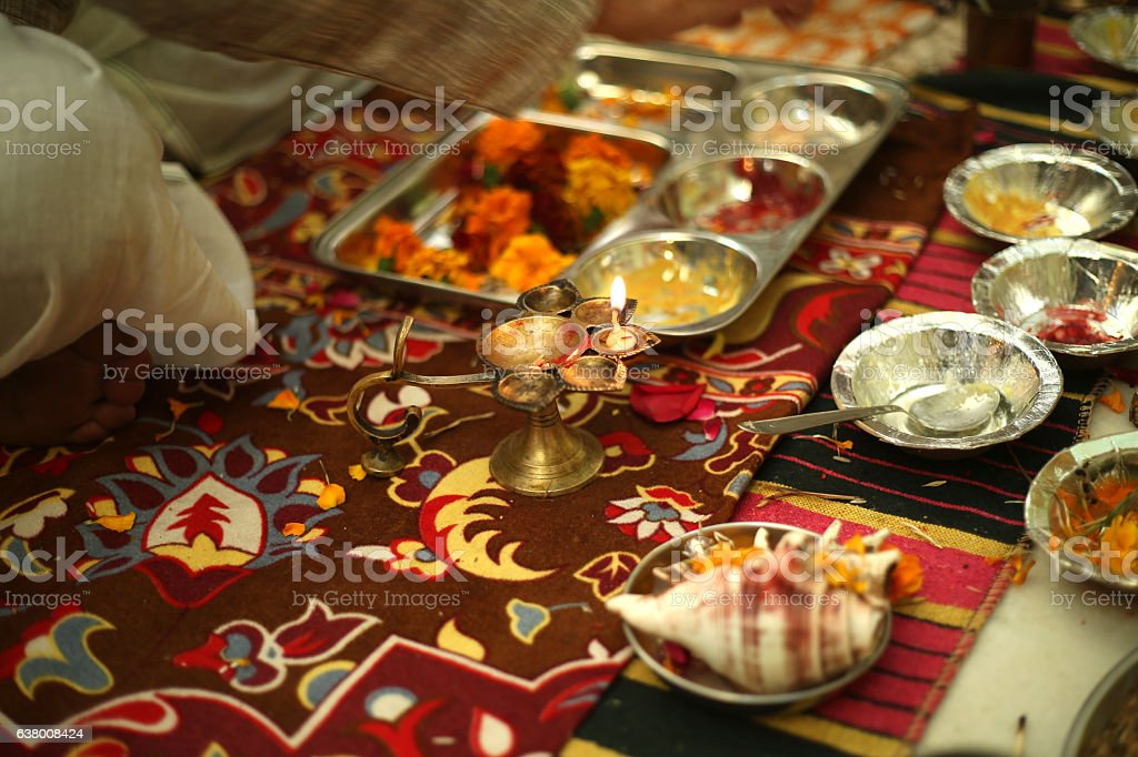 Hindu religious ceremony stock photo