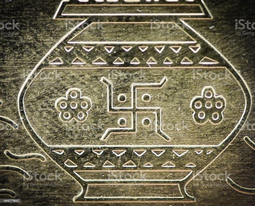 Hindu Religious Symbol stock photo