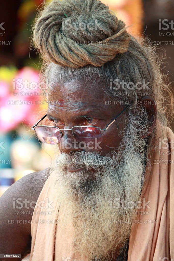 Hindu sadhu stock photo