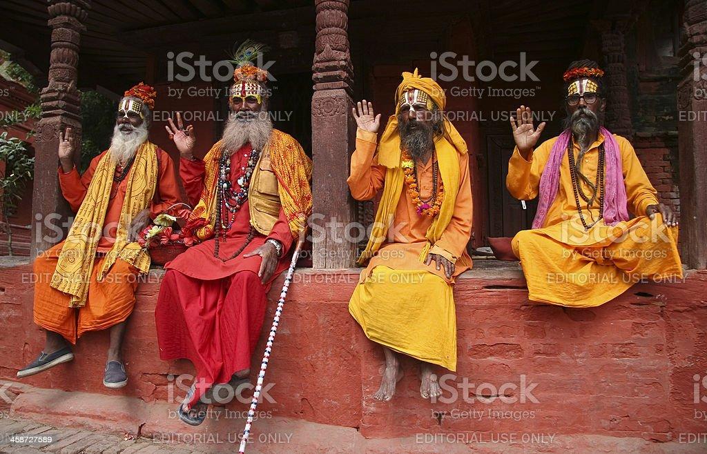 Hindu Saint Men Sadu royalty-free stock photo